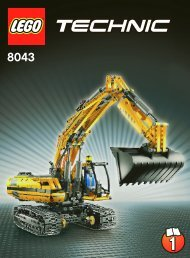 Lego Motorized Excavator - 8043 (2010) - VP Technic BI 3006/80+4 - 8043 1/3