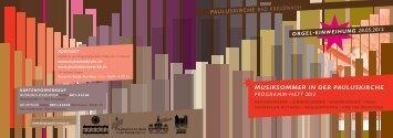 musiksommer in der pauluskirche programm - heft 2012