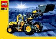 Lego Back-hoe Loader - 8455 (2003) - Back-hoe Loader BUILDING INSTR.  8455/2
