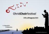 P - Ohrid Choir Festival