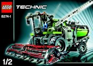 Lego Combine Harvester - 8274 (2007) - Snow Mobile BUILD.INST.-8274 MODEL 1.1/2
