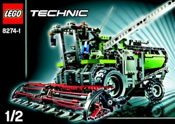 Lego Combine Harvester - 8274 (2007) - Snow Mobile BUILD.INST.-8274 MODEL 1.1/2