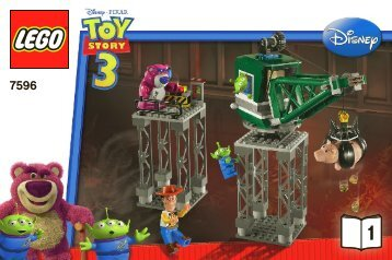 Lego Trash Compactor Escape - 7596 (2010) - Woody and Buzz to the Rescue BI 3002/48 - 7596 V 29 1/2