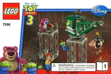 Lego Trash Compactor Escape - 7596 (2010) - Woody and Buzz to the Rescue BI 3002/48 - 7596 V 39 1/2