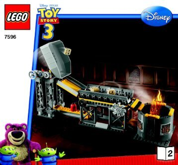 Lego Trash Compactor Escape - 7596 (2010) - Woody and Buzz to the Rescue BI 3005/48 - 7596 V 29 2/2