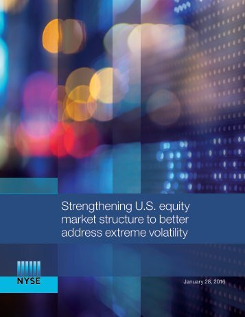 market structure to better address extreme volatility