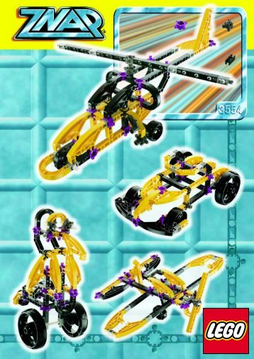 Lego ZNAP Mini-Constructor Set - 3554 (1999) - ZNAP Jet-Car BUILDING INST. FOR 3554