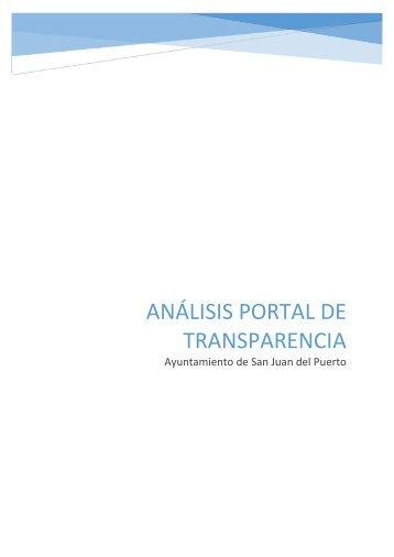 ANÁLISIS PORTAL DE TRANSPARENCIA AYUNTAMIENTO