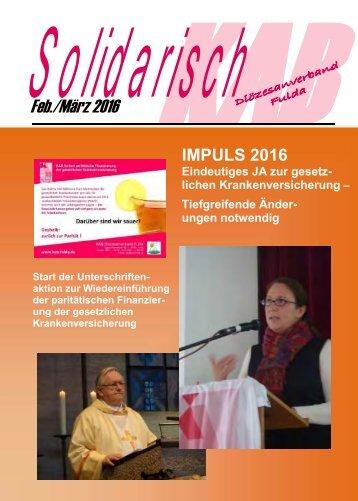Solidarisch FEB-MÄRZ 2016