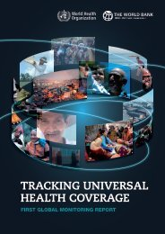 TRACKING UNIVERSAL HEALTH COVERAGE