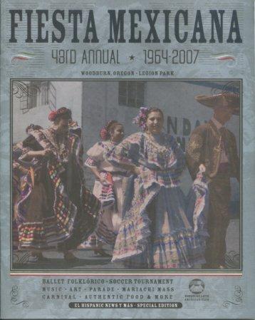 """43rd Annual """"Fiesta Mexicana""""--WOODBURN, Oregon 1964-2007"""