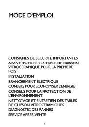 Whirlpool Table vitrocéramique 4 foyers - Largeur : 60 cm AKT 8130/NE - Mode d'emploi - Français