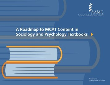 A Roadmap to MCAT Content in Sociology and Psychology Textbooks