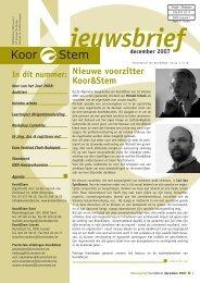 Koor van het Jaar 2008 - Koor & Stem
