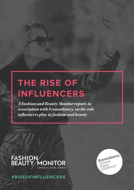 THE RISE OF INFLUENCERS