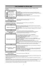 Whirlpool Sèche-linge 6ème Sens à condensation AZB 9222 - Tableau des programmes - Français