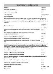Whirlpool Sèche-linge 6ème Sens à condensation AZB 9222 - Informations sur le produit - Français