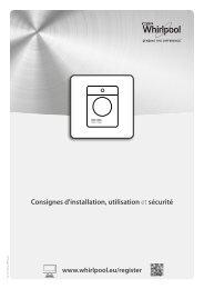 Whirlpool Sèche-linge Supreme Care DSCX 80110 - Utilisation et entretien - Français