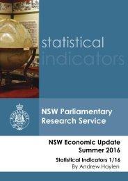 NSW Economic Update Summer 2016