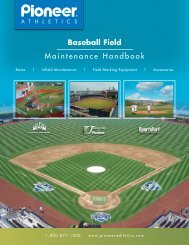 Baseball Field Maintenance Handbook - Pioneer Athletics