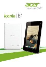 Acer B1-711 - Manuel d'utilisation