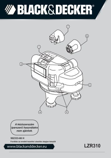 BlackandDecker Laser- Lzr310 - Type 1 - Instruction Manual (la Hongrie)