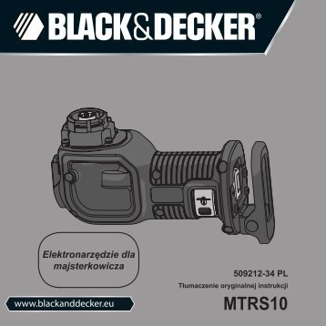 BlackandDecker Scie Egoine- Mtrs10 - Type 1 - Instruction Manual (Pologne)