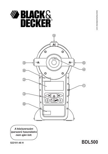 BlackandDecker Laser- Bdl500m - Type 1 - Instruction Manual (la Hongrie)