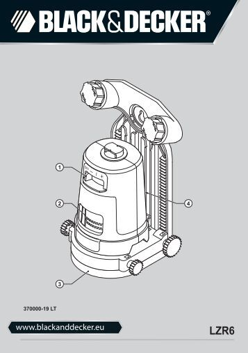 BlackandDecker Laser- Lzr6 - Type 1 - Instruction Manual (Lituanie)