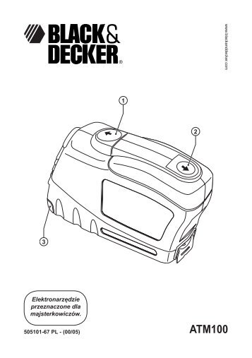 BlackandDecker Metre A Ruban Automatique- Atm100 - Type 3 - Instruction Manual (Pologne)