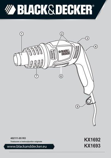 BlackandDecker Pistolet Thermique- Kx1693 - Type 1 - Instruction Manual (Roumanie)