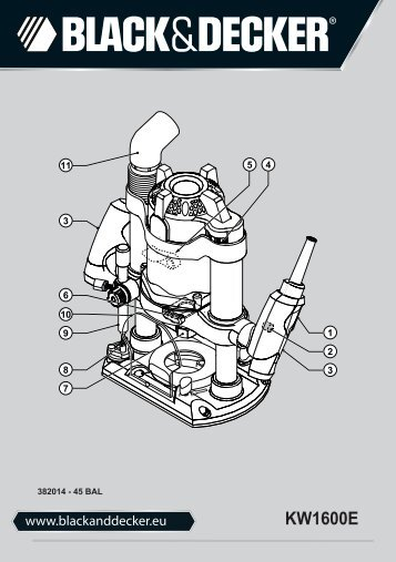 BlackandDecker Toupille- Kw1600e - Type 1 - Instruction Manual (Balkans)