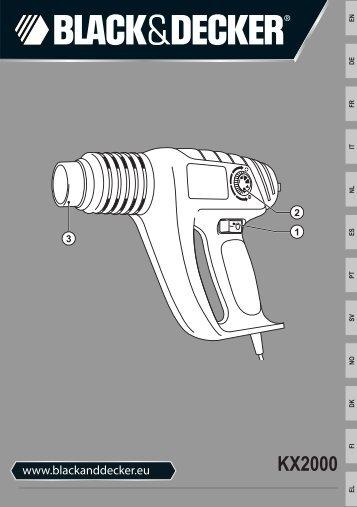 BlackandDecker Pistolet Thermique- Kx2000k - Type 3 - Instruction Manual (Européen)