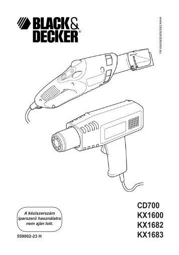 BlackandDecker Pistolet Thermique- Kx1682 - Type 1 - Instruction Manual (la Hongrie)