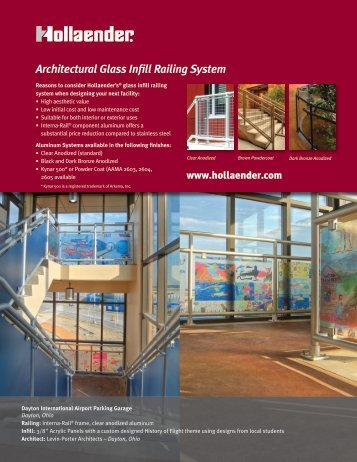 Architectural Glass Infill Railing System - 5 Point Railings