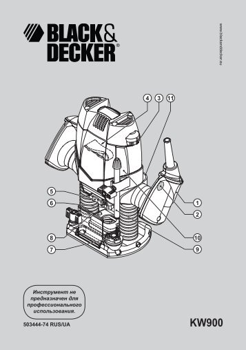 BlackandDecker Toupille- Kw900e - Type 1 - Instruction Manual (Russie - Ukraine)