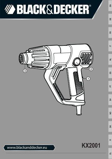 BlackandDecker Pistolet Thermique- Kx2001 - Type 1 - Instruction Manual (Européen)