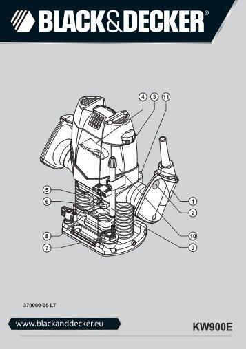 BlackandDecker Toupille- Kw900e - Type 1 - Instruction Manual (Lituanie)