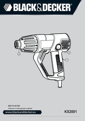 BlackandDecker Pistolet Thermique- Kx2001 - Type 1 - Instruction Manual (Roumanie)