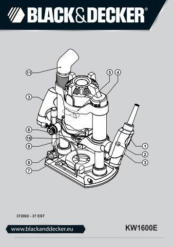 BlackandDecker Toupille- Kw1600e - Type 1 - Instruction Manual (Estonie)