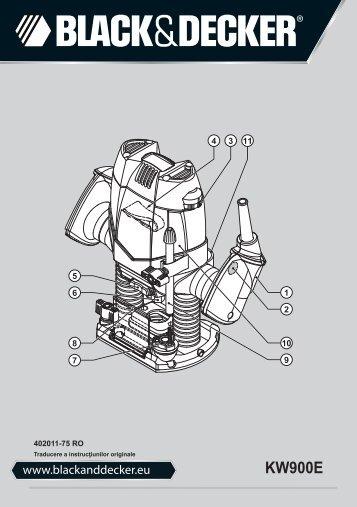 BlackandDecker Toupille- Kw900e - Type 1 - Instruction Manual (Roumanie)