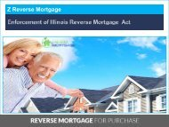 Enforcement of Illinois Reverse Mortgage Act - Z Reverse Mortgage