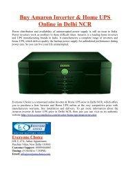 Buy Amaron Inverter & Home UPS Online in Delhi NCR