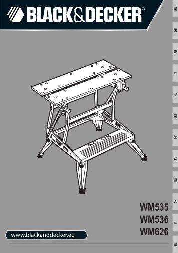 BlackandDecker Workmate- Wm626 - Type 11 - Instruction Manual (Européen)