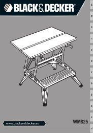 BlackandDecker Workmate- Wm825 - Type 4 - Instruction Manual (Européen)
