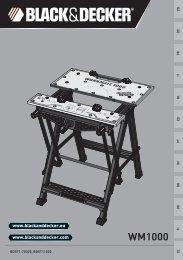BlackandDecker Workmate- Wm1000 - Type 2 - Instruction Manual (Européen)