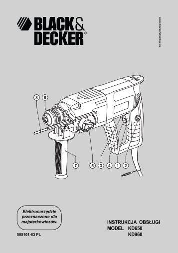 BlackandDecker Marteau Rotatif- Kd960 - Type 2 - Instruction Manual (Pologne)