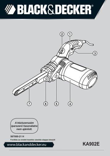 BlackandDecker Lime Electroport.- Ka902e - Type 1 - Instruction Manual (la Hongrie)