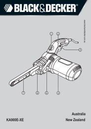 BlackandDecker Lime Electroport.- Ka900e - Type 1 - Instruction Manual (Australie Nouvelle-Zélande)