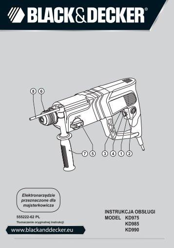 BlackandDecker Marteau Rotatif- Kd975 - Type 2 - Instruction Manual (Pologne)